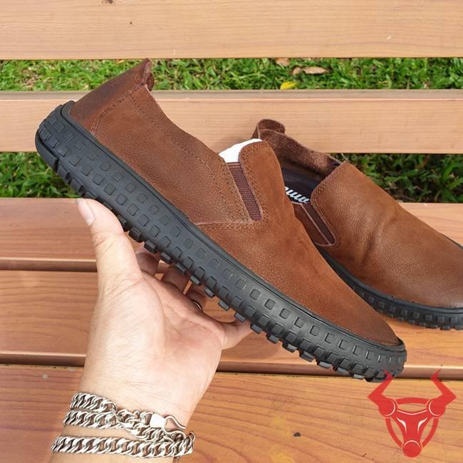 Giày Mọi Da Bò GM06