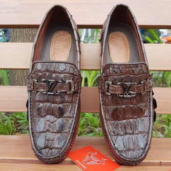 Giày Mọi Nam Da Cá Sấu Thật GC0202