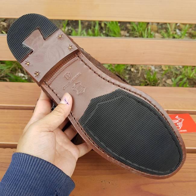 Giày Mọi Nam Da Cá Sấu Thật GC0402