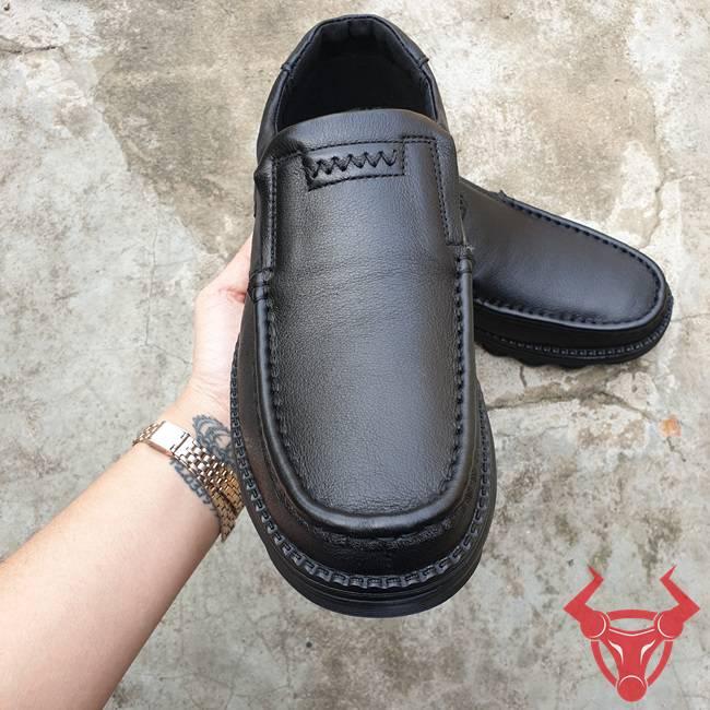 Giày Nam Da Bò Đế Cao CAT02-Đ
