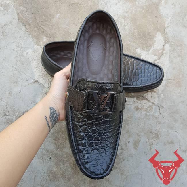 Giày Lười Giày Mọi Da Cá Sấu Thật GC010840