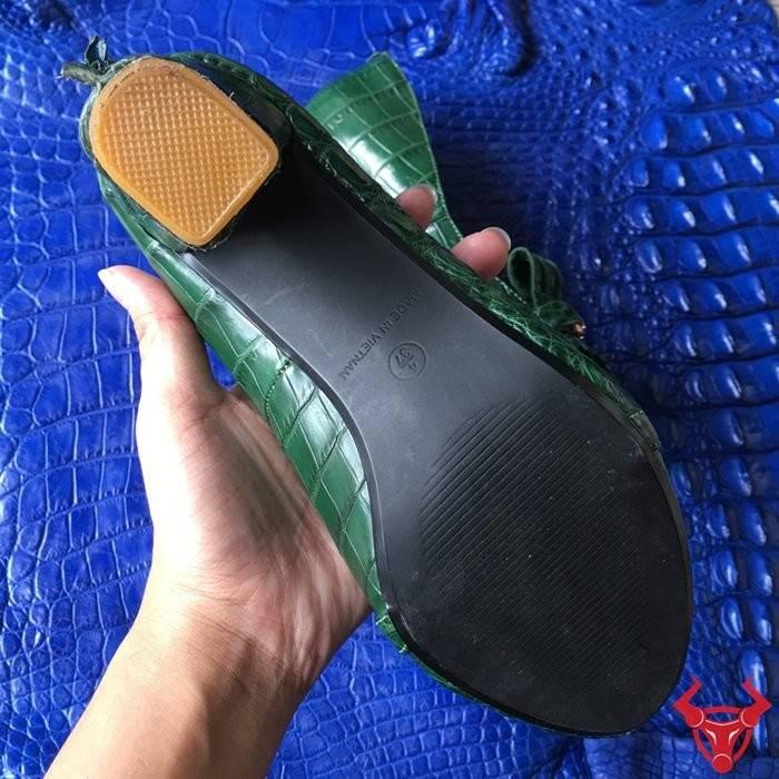 Giày Da Cá Sấu Nữ Cao Cấp GN01B