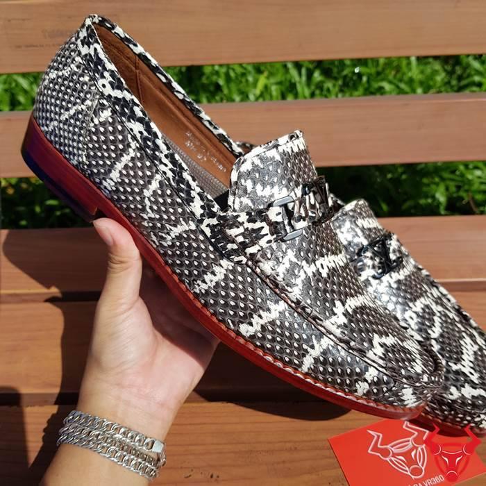 Giày Lười Da Rắn Hổ Mang GDR01