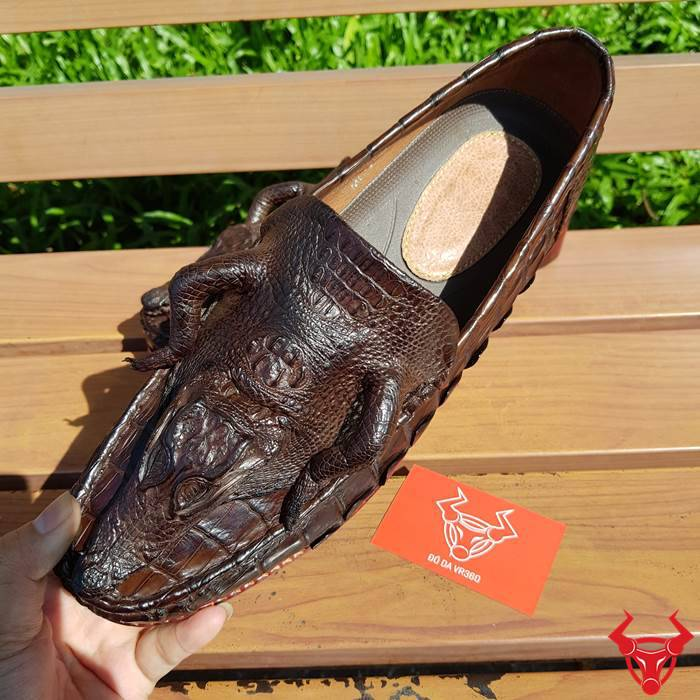 Giày Nam Da Cá Sấu Nguyên Con GC0210
