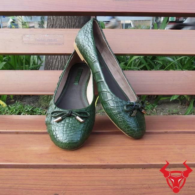 Giày Búp Bê Da Cá Sấu Thật GN1108
