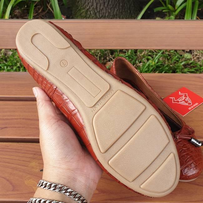 Giày Búp Bê Da Cá Sấu GN0408