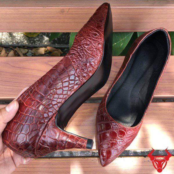 Giày Cá Sấu Nữ Da Thật Giá Rẻ GN02