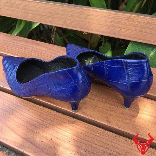 Giày Cao Gót Da Cá Sấu Thật Giá Rẻ GN04