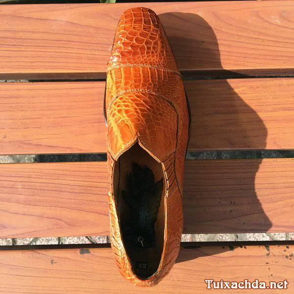 Giày da cá sấu nam giá rẻ tphcm GCS05