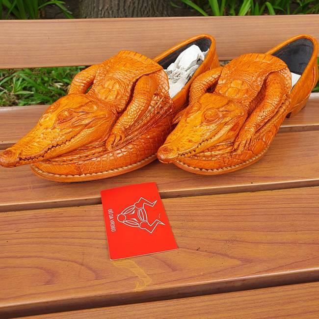 Giày Lười Nam Da Cá Sấu Nguyên Con GC0710