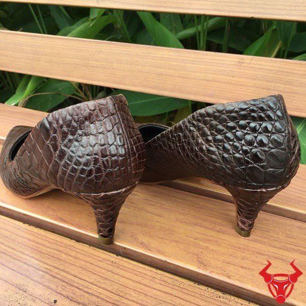 Giày Da Cá Sấu Nữ Giảm Giá GN03