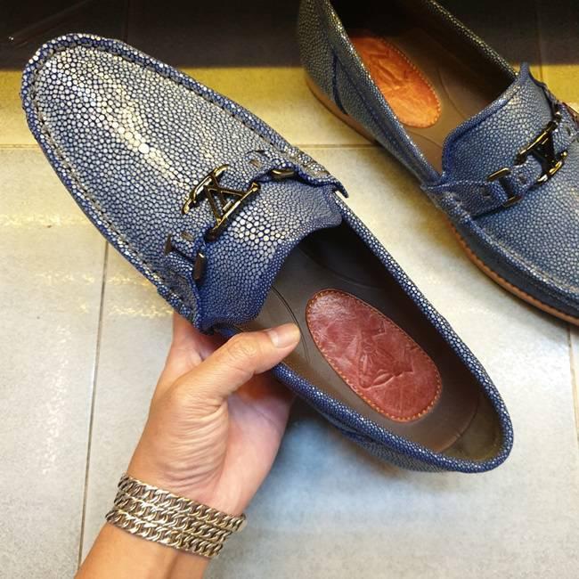 Giày Mọi Nam Da Cá Đuối Hàng Hiệu Cao Cấp GC12A442