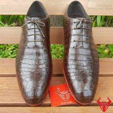 Giày Tây Cột Dây Da Cá Sấu GA0208
