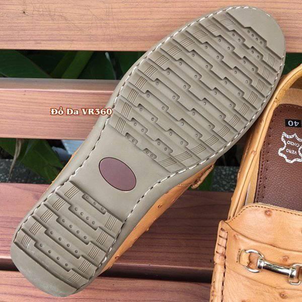 Giày Mọi Da Đà Điểu DD03 Vàng Bò