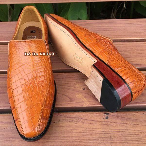 Giày Tây Da Cá Sấu Thật GB0608 Da Trơn