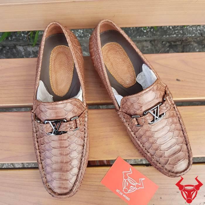 Giày Lười Nam Da Trăn Nhập Khẩu GC03A1