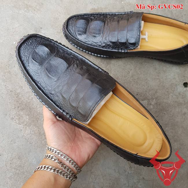 Giày Mọi Da Bò Dập Vân Cá Sấu GVCS02