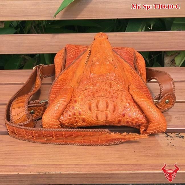 Túi Da Cá Sấu Đầu Cá Sấu TI0610-C