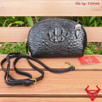 Túi Da Cá Sấu Nữ Màu Đen TZ0104