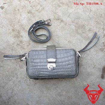 Túi Da Cá Sấu Nữ Màu Xám TH1508-A