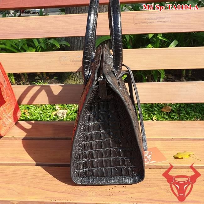Túi Da Cá Sấu Túi Xách Nữ Màu Đen TA0104-A