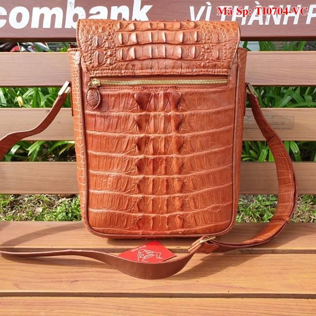 Túi Đeo Nam Da Cá Sấu Nam TI0704-VC