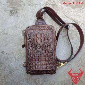 Túi Đeo Nam Da Cá Sấu Thời Trang TG0204