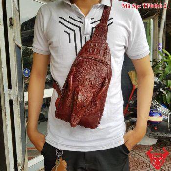 Túi Đeo Ngực Da Cá Sấu Thật TF0410-2