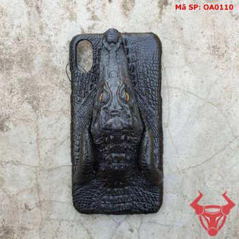 Ốp Lưng Iphone XS Max Da Cá Sấu Đầu Cá Sấu OA0110
