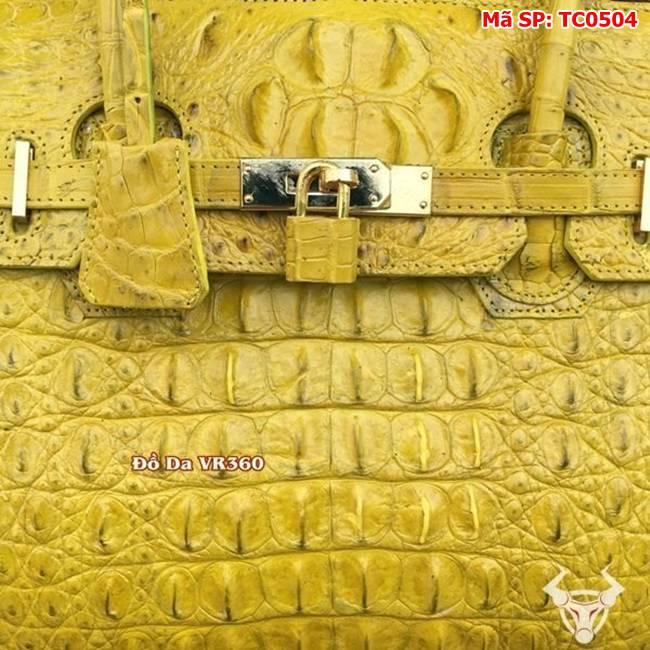 Túi Xách Hermes Da Cá Sấu Vàng TC0504